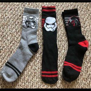 🍄3 pairs of star wars socks ✨